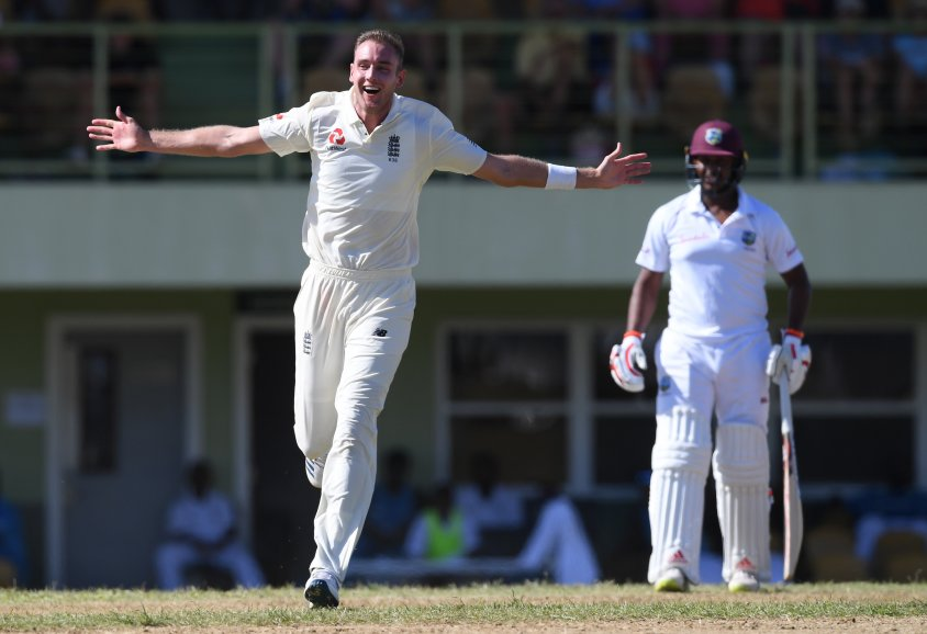 Stuart Broad hat-trick England West Indies