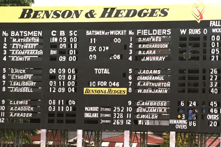 West Indies England 46 all out Trinidad
