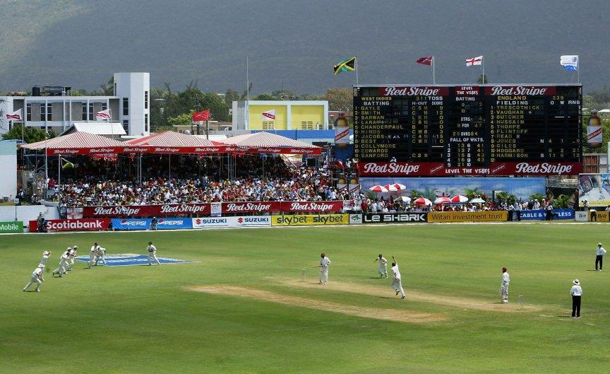 England West Indies Steve Harmison 7/12 Jamaica