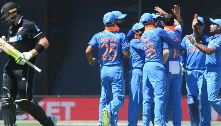 India celebrate New Zealand