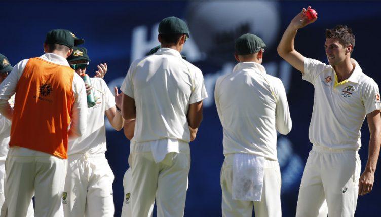 Pat Cummins took 10/62 in the Brisbane Test win against Sri Lanka (photo - getty)