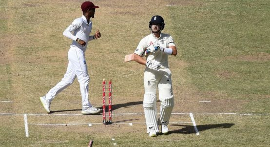 Joe Denly bowled West Indies