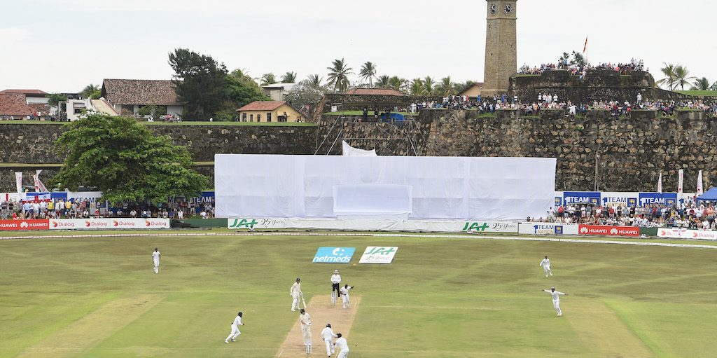 during Day One of the First Test match between Sri Lanka and England at Galle International Stadium on November 6, 2018 in Galle, Sri Lanka.