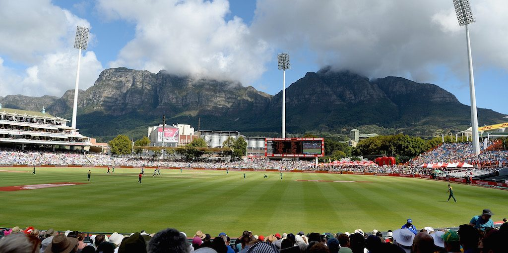 during the 5th Momentum ODI match between South Africa and England at Newlands Stadium on February 14, 2016 in Cape Town, South Africa.