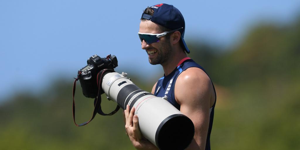 Mark Wood holding a camera