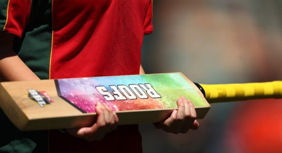 HOBART, AUSTRALIA - DECEMBER 24: A cricket bat used in the bat flip is seenduring Hobart Hurricanes v Melbourne Stars Big Bash League Match at Blundstone Arena on December 24, 2018 in Hobart, Australia. (Photo by Mark Metcalfe/Getty Images)