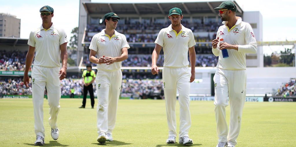 during day two of the Third Test match during the 2017/18 Ashes Series between Australia and England at WACA on December 15, 2017 in Perth, Australia.