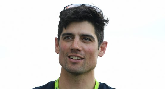 ANTIGUA, ANTIGUA AND BARBUDA - JANUARY 3 Ex England captain Alastair Cook during a net session at Sir Vivian Richards Stadium on January 30, 2019 in St John's, Antigua and Barbuda. (Photo by Shaun Botterill/Getty Images)