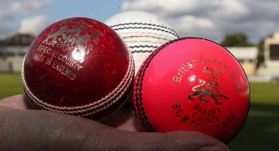 Cricket balls red white pink Edgbaston 2017 PA