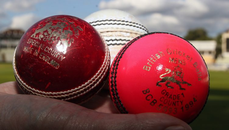 Cricket balls red white pink Edgbaston 2017 PA