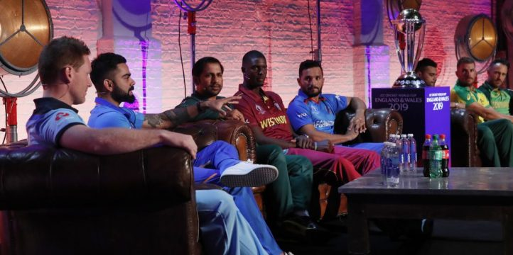 Cricket World Cup captains PA