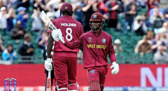 Shai Hope hundred West Indies World Cup PA