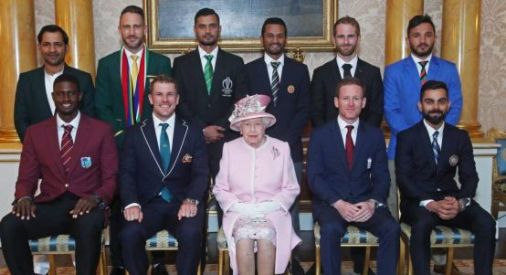 2019 Cricket World Cup captains and The Queen PA