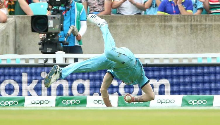 Ben Stokes catch England South Africa World Cup PA
