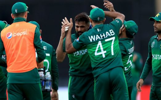 Mohammad Amir celebrate England Pakistan World Cup PA