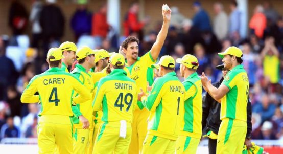 Mitchell Starc five-fer Australia West Indies World Cup PA
