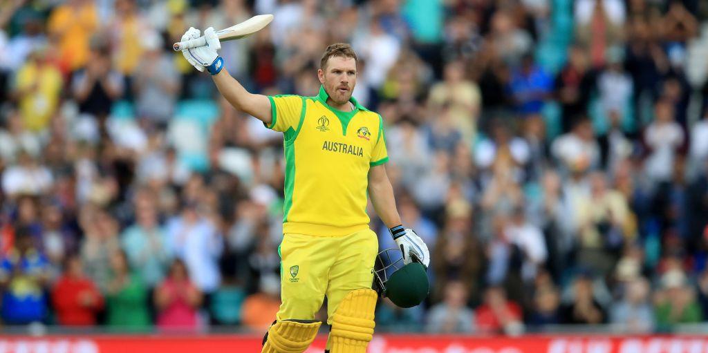 Aaron Finch 100 Australia Sri Lanka World Cup PA