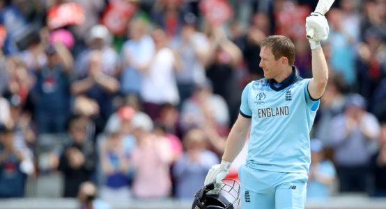 Eoin Morgan 100 England Afghanistan World Cup PA