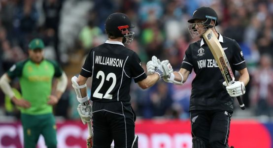 Kane Williamson Mitchell Santner New Zealand South Africa World Cup PA