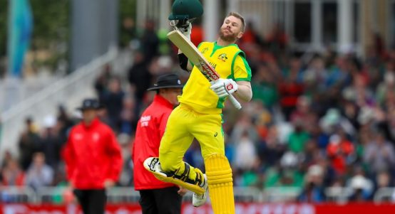 David Warner century Australia Bangladesh World Cup PA