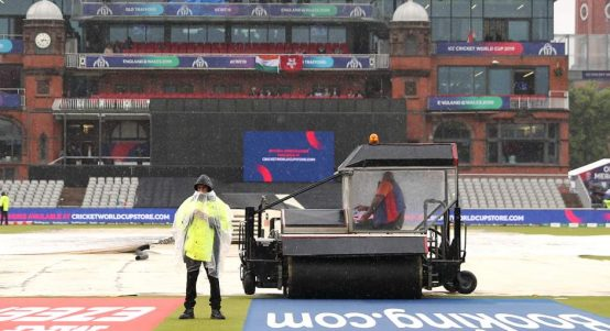 Old Trafford rain India New Zealand World Cup PA