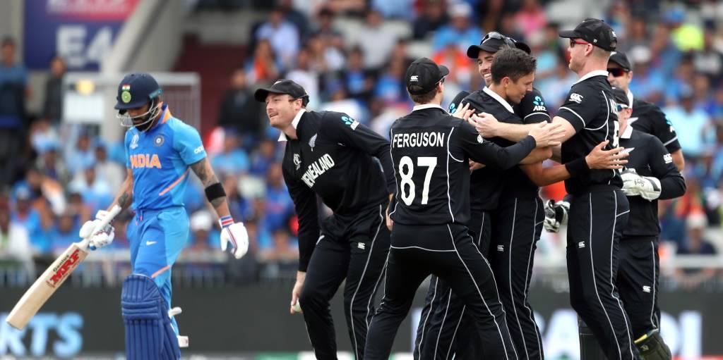Virat Kohli out Trent Boult India New Zealand World Cup PA