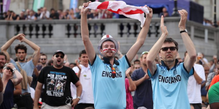 England cricket fans PA