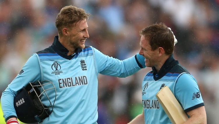 Joe Root Eoin Morgan England World Cup PA
