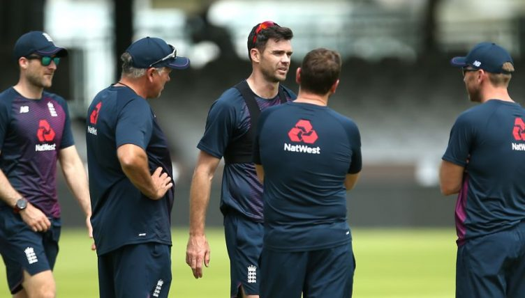 James Anderson England training Lord's