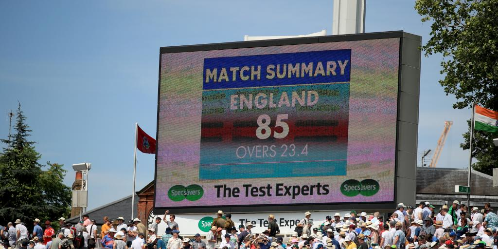 England 85 all out Ireland Lord's