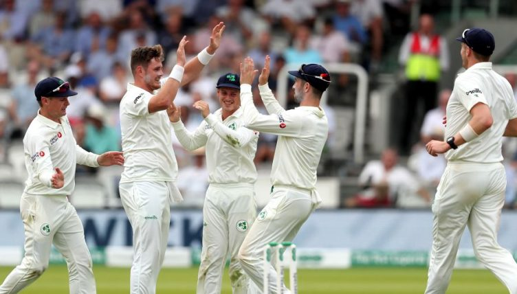 Mark Adair celebrates England Ireland Lord's day two