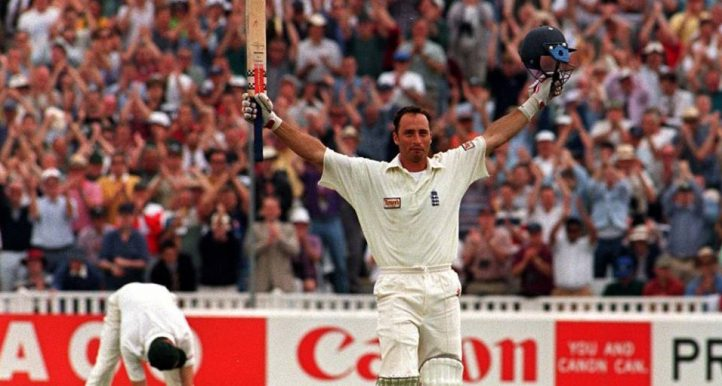 Nasser Hussain Edgbaston double hundred Ashes 1997 PA