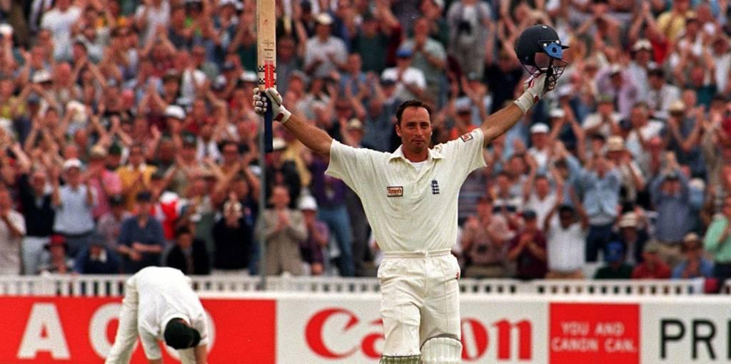 Nasser Hussain Edgbaston double hundred Ashes 1997 PA