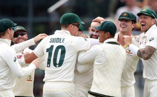 Australia celebrate ICC World Test Championship Ashes PA