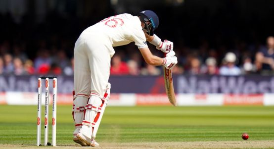 Joe Root lbw Josh Hazlewood Lord's slope England Australia Ashes PA