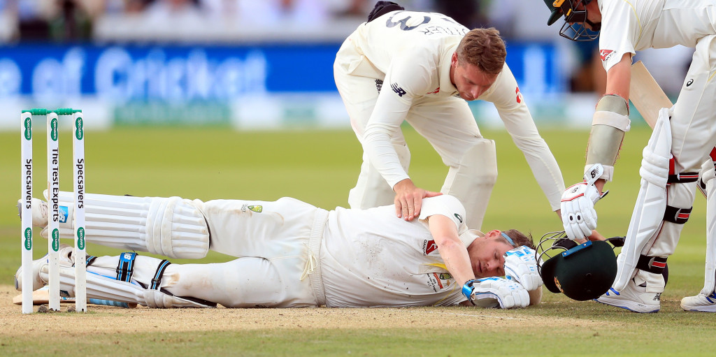WATCH: Steve Smith floored after vicious Archer bouncer