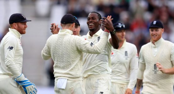 Jofra Archer celebrate England Australia Ashes Headingley PA