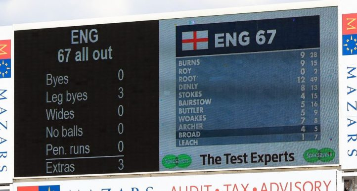 England 67 all out Ashes Australia Headingley PA