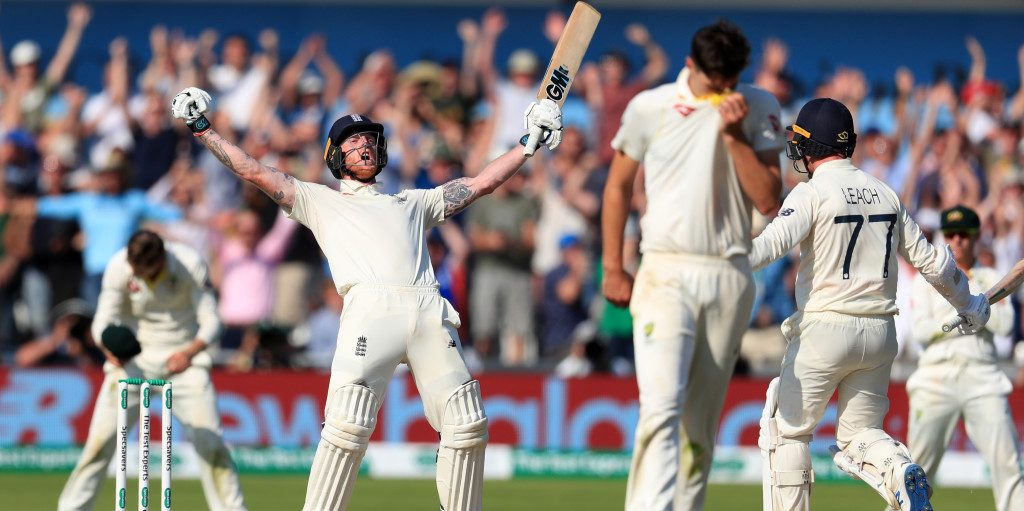 Ben Stokes celebration Ashes PA