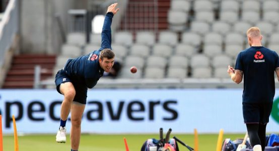 Craig Overton England nets Ashes Old Trafford PA