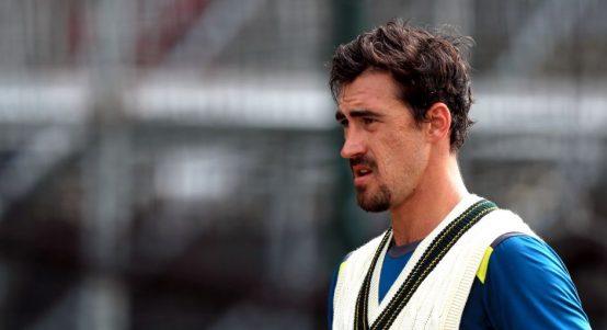 Mitchell Starc Old Trafford Ashes Australia PA