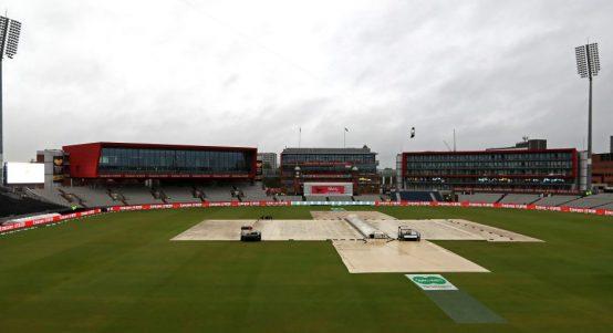 Old Trafford rain Ashes England Australia PA