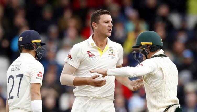Rory Burns Josh Hazlewood England Australia Ashes Old Trafford PA