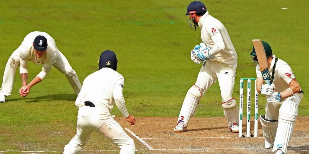 Ben Stokes catches Steve Smith no ball Ashes England Australia Old Trafford PA