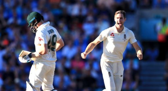 Chris Woakes Steve Smith England Australia The Oval Ashes PA