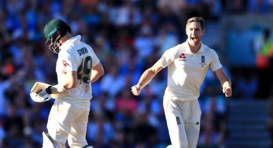 Chris Woakes Steve Smith England Australia The Oval Ashes PA