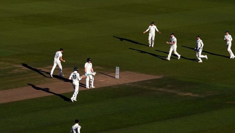 Steve Smith out Chris Woakes England Australia Ashes PA