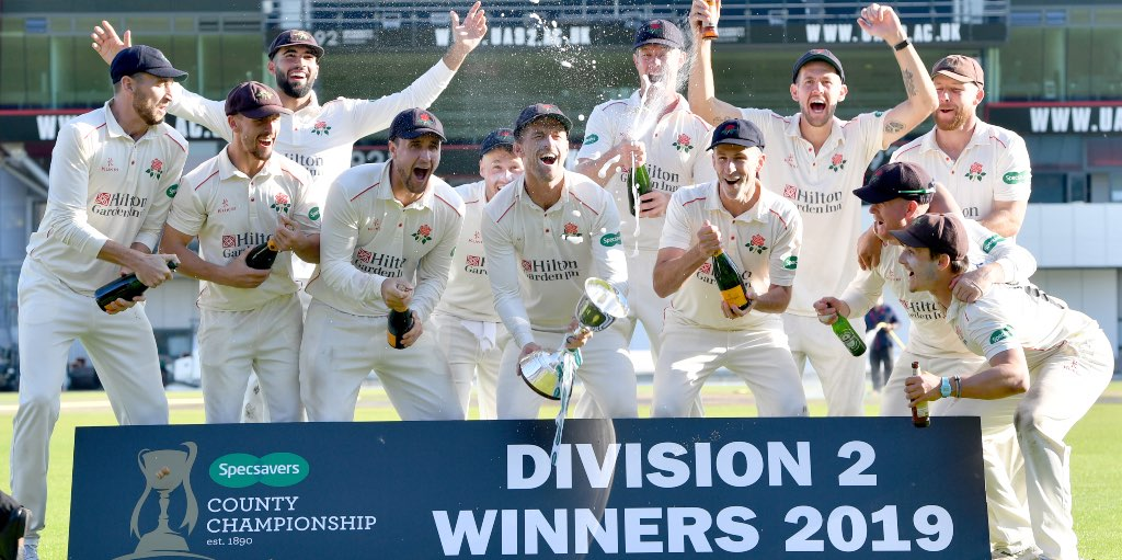 Lancashire lift Division Two title after Middlesex win
