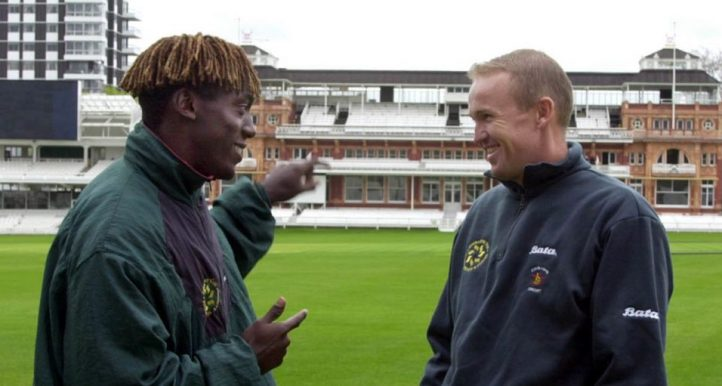 Henry Olonga Andy Flower 2000 PA