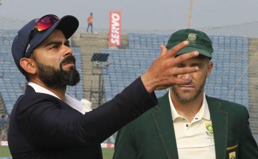 Virat Kohli Faf du Plessis second Test India v South Africa PA